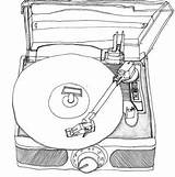 Drawings Record Drawing Vinyl Player Sketch Turntable Dessin Vnyl Ado Tattoos Tattoo Sketches Besuchen Charp Ln Guardado Desde sketch template