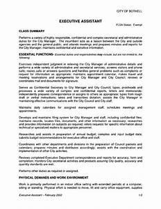 Aide Jobs Executive Assistant Job Description