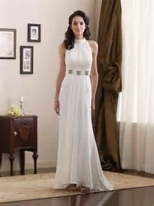 simple high halter jeweled broach chiffon informal wedding dress prlog - Simple Informal Wedding Dresses