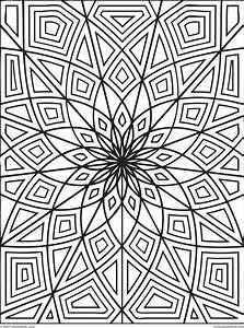 mandala meditation coloring pages - abstract coloring pages