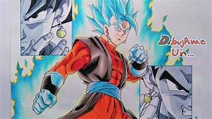 Como Dibujar a VEGETTO XENO Ssj Blue/Colores Escolares How to Draw Vegetto Super Dragon Ball