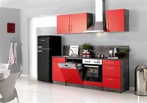 Vintage Möbel Küche : k chenzeile sevilla k che mit e ger ten breite 280 cm 14 teilig rot samtmatt eiche ~ Sanjose-hotels-ca.com Haus und Dekorationen