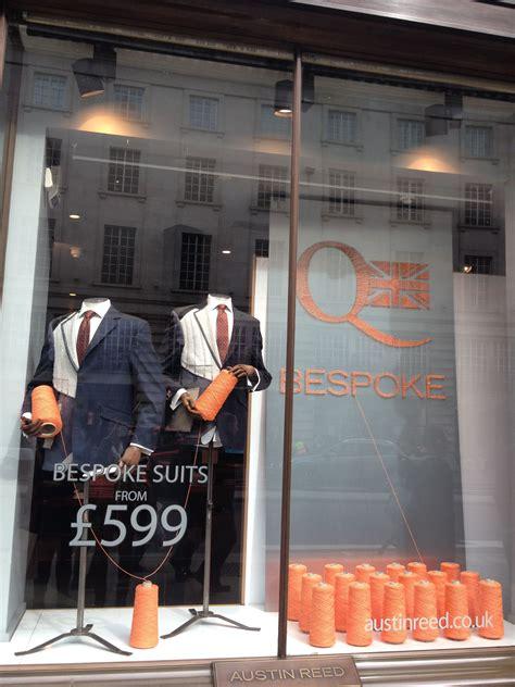 bespoke tailoring promotion   window  austin