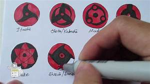 How to draw all Mangekyou Sharingan 万華鏡写輪眼 - YouTube