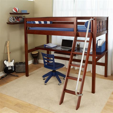 bed with built in desk knock out high loft bed with built in desk