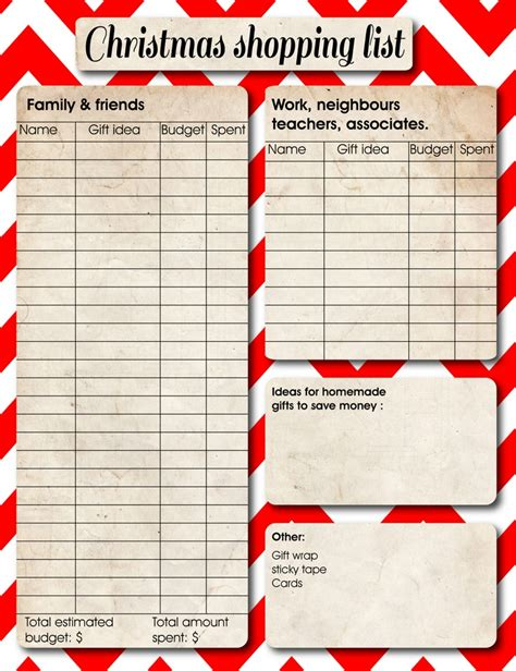 17 best images about christmas planner on pinterest