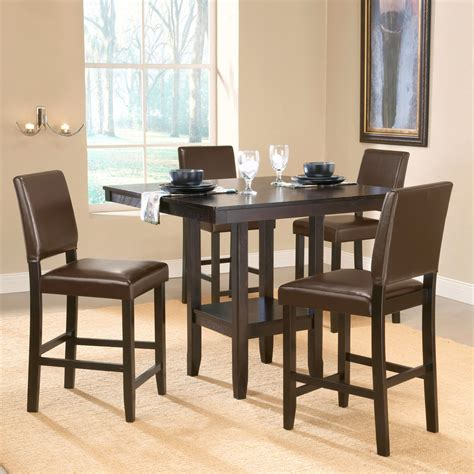 espresso counter height dining table shop hillsdale furniture arcadia espresso dining set with