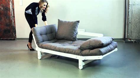 canapé lit futon canapé convertible en bois avec matelas futon beat