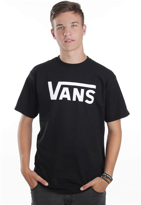 vans vans classic blackwhite  shirt impericoncom uk