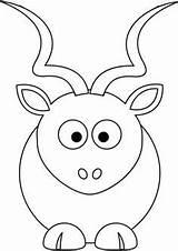Coloring Kudu Dice Drawing Sayfaları Boyama Applique Getcolorings Desenleri Patterns Printable çizgi Bebek ücretsiz Sanatı Aplike Patron Odası Line Drawings sketch template