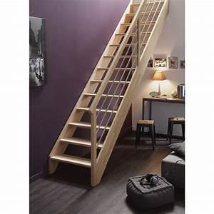 Marche Bois Escalier : escalier droit urban tube structure bois marche bois leroy merlin ~ Voncanada.com Idées de Décoration