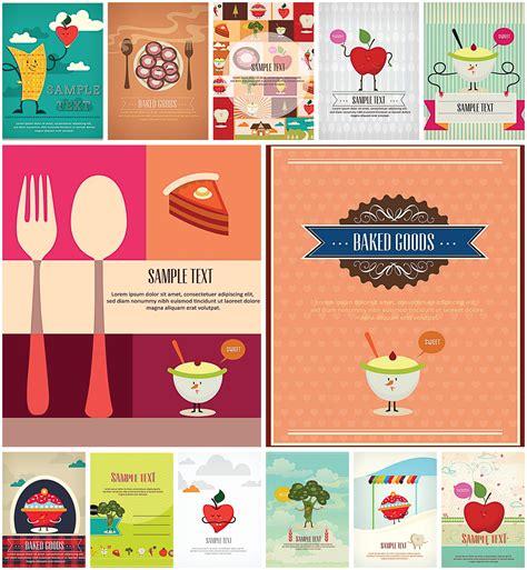 lovely cartoon vegetables  fruits menus