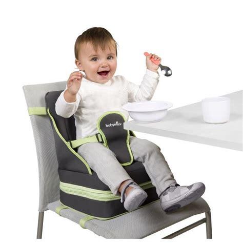 adaptateur chaise bébé babymoov réhausseur nomade up go gris et vert anis