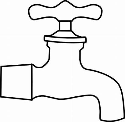 Tap Water Clip Faucet Clipart Clker