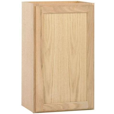 unfinished bathroom cabinets home depot 18x30x12 in wall cabinet in unfinished oak w1830ohd the