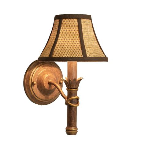 wall sconce shade island gold wall sconce with wicker shade 11349738
