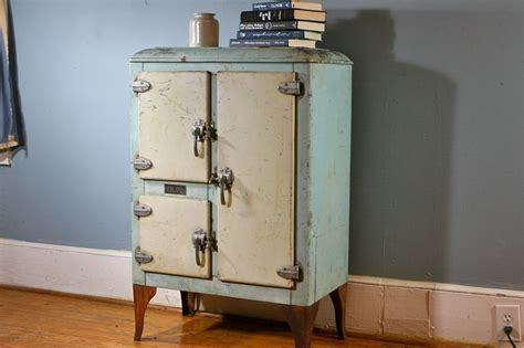 Reserved For Amy Rare Antique Iceland Icebox With Great