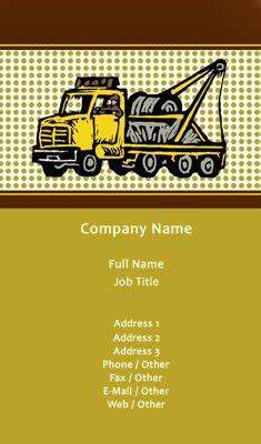 business card templates towing