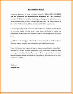 acknowledgement format for term paper pdf