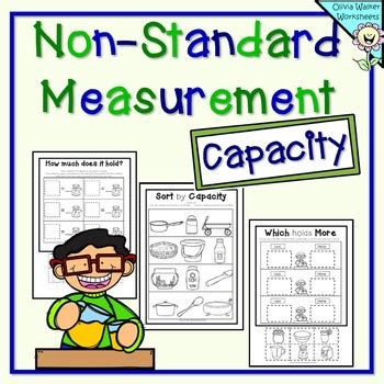 capacity non standard measurement for kindergarten grade one