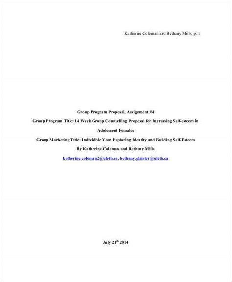 group proposal templates  sample  format