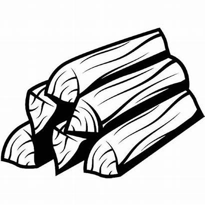 Drawing Lumber Wood Pile Firewood Trees Logs