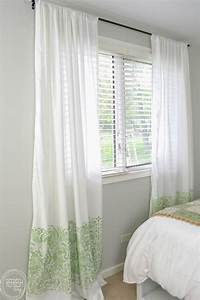 Cheap, Diy, Curtains, Made, With, Sheets