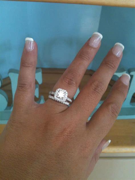 diamond  square diamond ring wedding rings