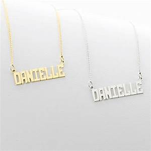 sterling silver small block letter name necklace With small letter name necklace