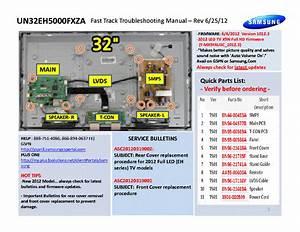 Samsung Pn60e550d1fxza Fast Track Guide Service Manual