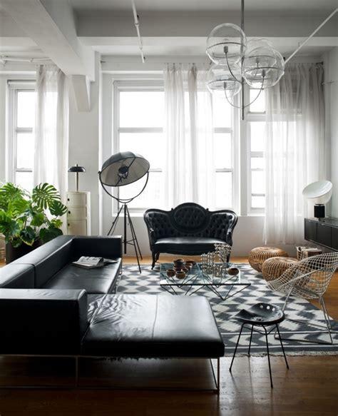 simple  modern   black  white living