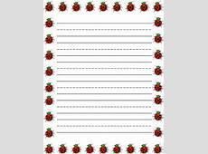 ladybug writing paper