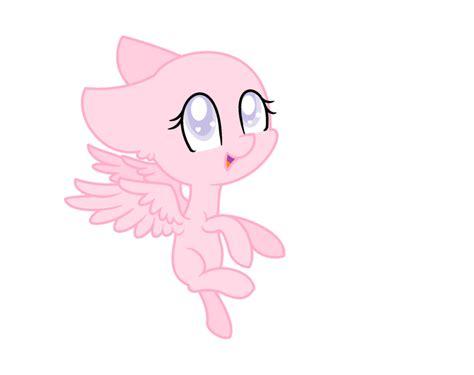 Mlp Pegasus Base (chibi) By Strawberrycupcakes7 On Deviantart