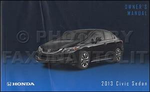 2013 Honda Civic Sedan Owner U0026 39 S Manual Original 4 Door