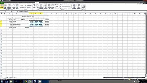 excel  waterfall chart template exceltemplates