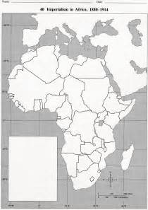 Blank Africa Imperialism Map 1914