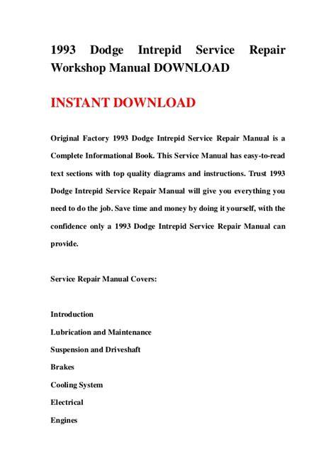 service manuals schematics 1993 dodge intrepid electronic valve timing 1993 dodge intrepid service repair workshop manual download