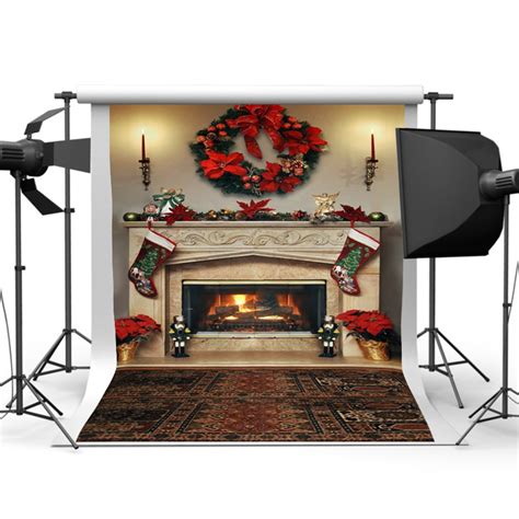 Backdrop With Fireplace by 7x5ft Fireplace Photography Backdrop Vinyl