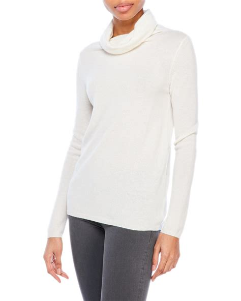 white cowl neck sweater magaschoni cowl neck sweater in white lyst