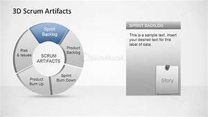 3d agile scrum artifacts powerpoint diagram sprint backlog for Agile artifacts templates