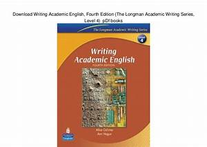 Download Writing Academic English  Fourth Edition  The