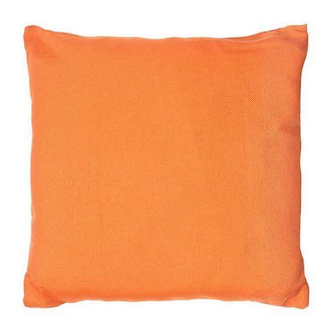 Orange Cusions by Home Collection Basics Orange Plain Textured Cushion