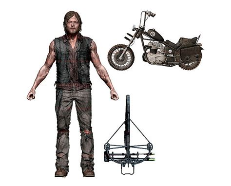 The Walking Dead Daryl Dixon Figure And Motorcycle