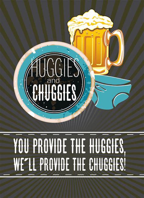 huggies  chuggies baby shower invitation