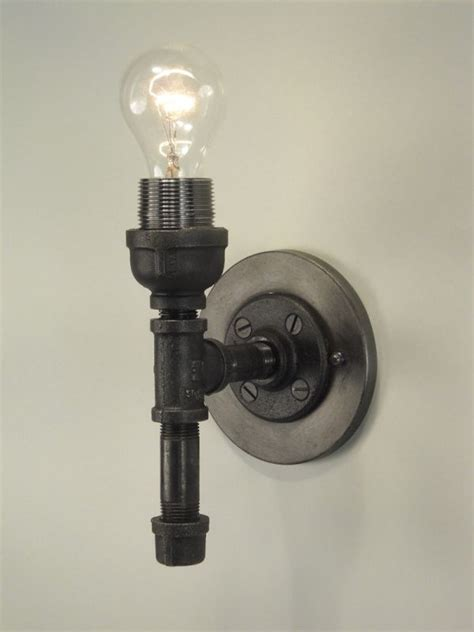 black wall sconces lighting wall sconce made with black pipe diy