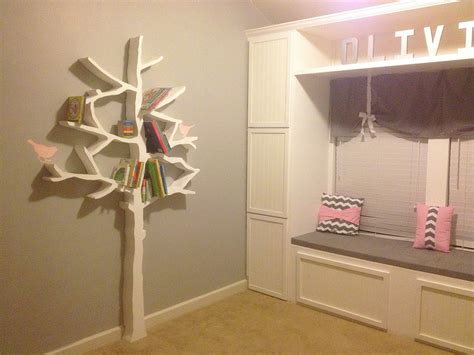 Tree Bookcase Plans by Walls Construction Diy Tree Bookshelf