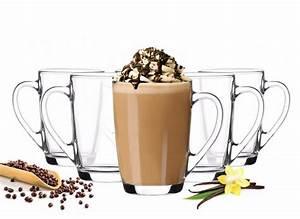 Latte Macchiato Gläser 10 Cm Hoch : 6 kaffeegl ser 300ml mit henkel mit 6 l ffel teegl ser latte macchiato gl ser sendez ~ Markanthonyermac.com Haus und Dekorationen