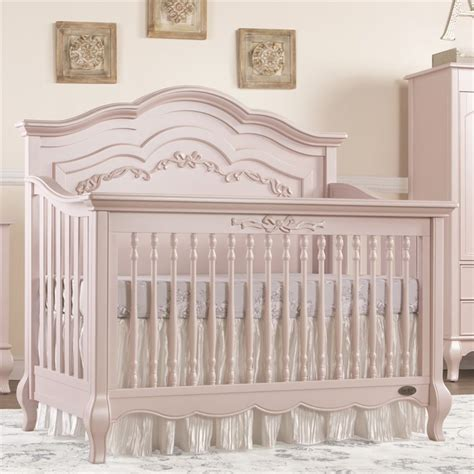 convertible baby evolur 5 in 1 convertible crib in blush pink pearl