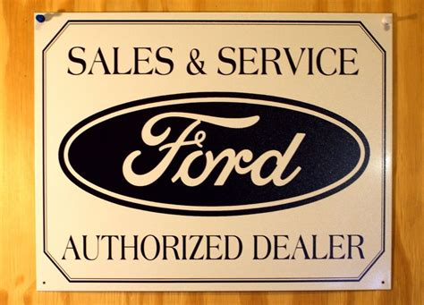 Ford Sales & Services Authorized Dealer Tin Sign Mustang