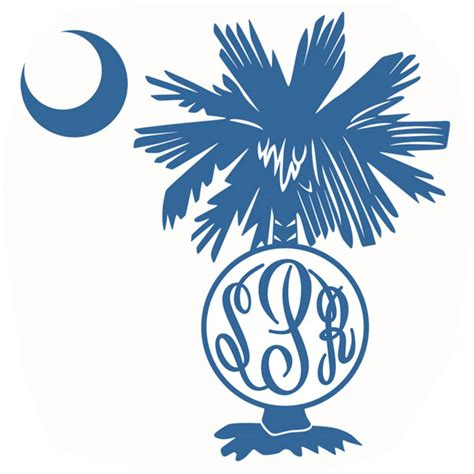 palm tree svg monogram cuttable frames
